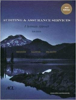 Auditing and Assurance Services, 6e by Messier (very good used condition)