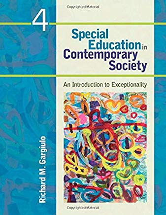 Special Education in Contemporary Society, 4th edition, by Gargiulo, (used)