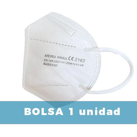Image of Blanca | Mascarillas FFP3 Adulto 😷 | CE 2163 EN 149:2001+A1:2009