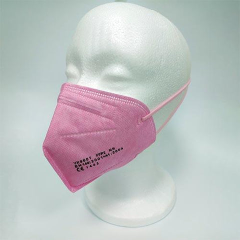 Rosa | Mascarillas  FFP2 de Colores | Adulto | CE 2163 EN 149:2001+A1:2009