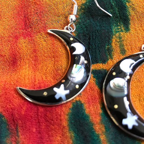 Moonlight Crescent Earrings