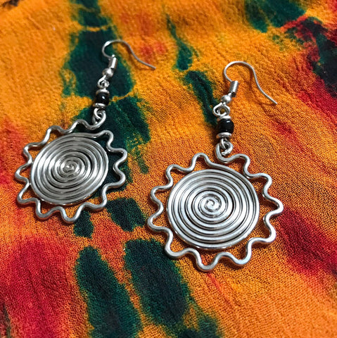 Sun Spiral Earrings