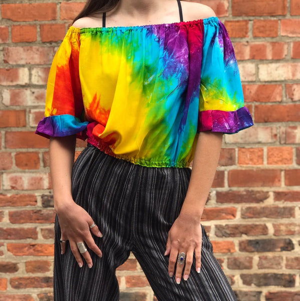 Rainbow Bardot Top