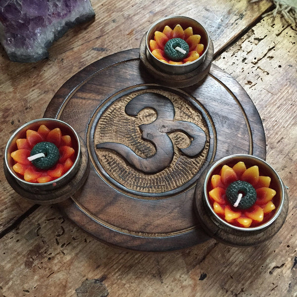 Om Tealight Holder
