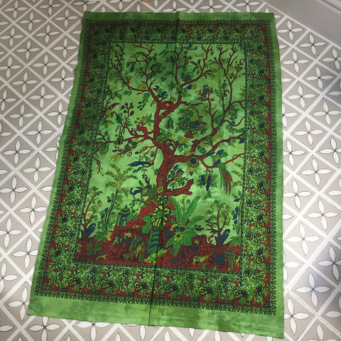 Green Tree of Life Wall Hanging