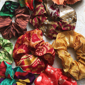 Sari Hair Scrunchie