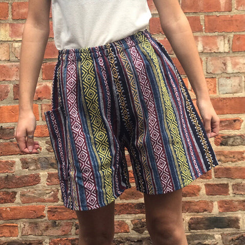 Blue & Yellow Thai Weave Shorts XL/XXL