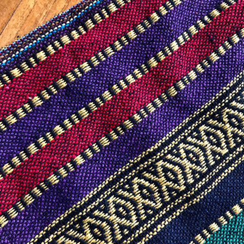 Purple & Red Thai Weave Shorts S/M