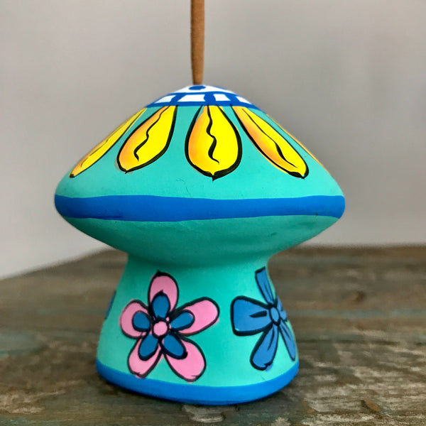 Turquoise Ceramic Mushroom Incense Holder