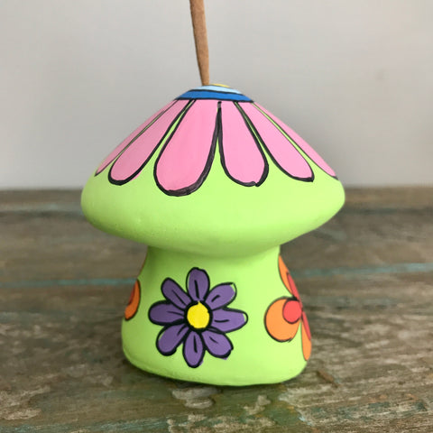 Green Ceramic Mushroom Incense Holder