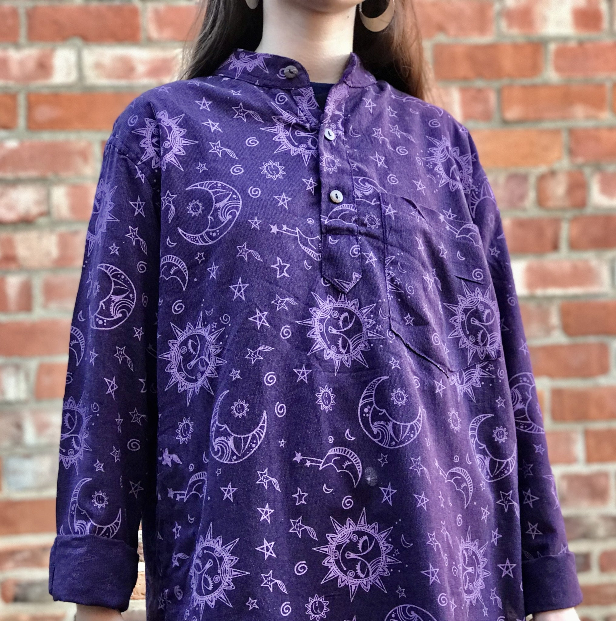 Purple Celestial Cosmos Shirt