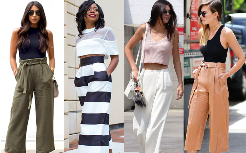 Casual tops with culottes