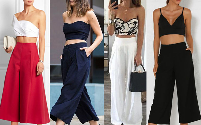 Crop tops with culottes