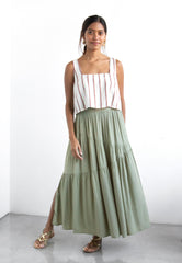 staple the label sorrento tiered skirt