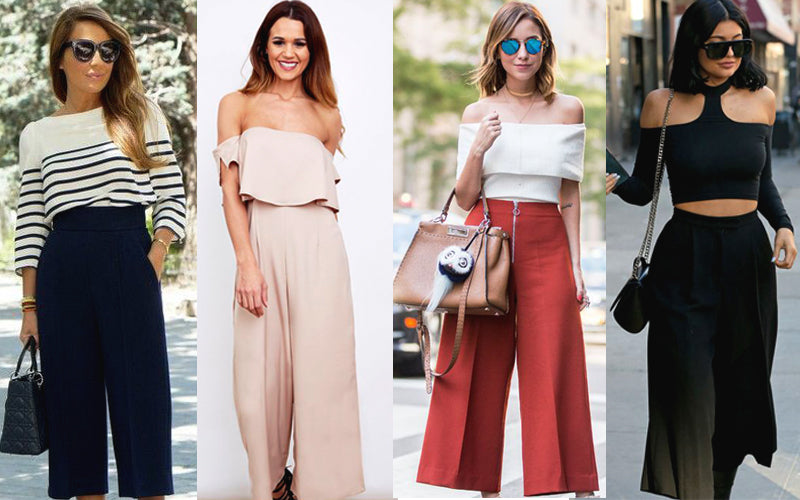 Off shoulder tops with culottes