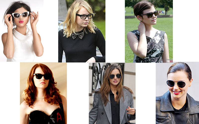 Celebrities wearing sunglasses