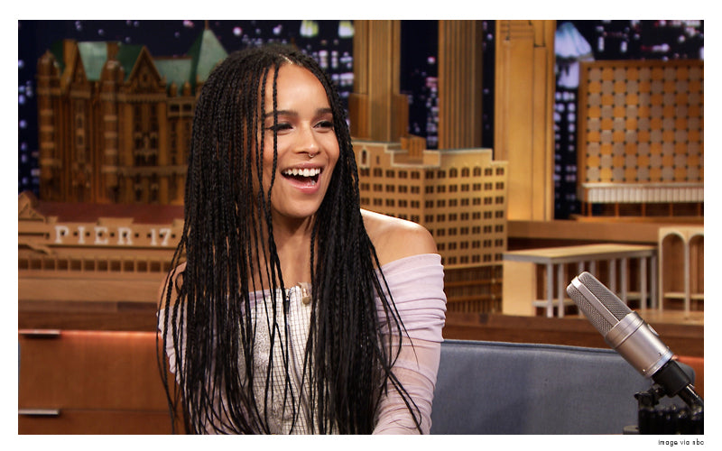 zoe kravitz on the tonight show with jimmy fallon