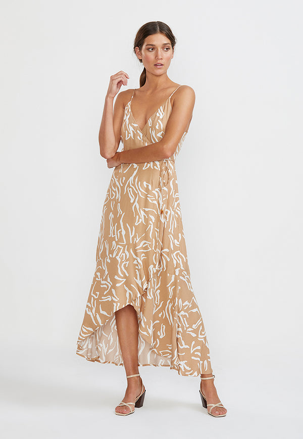Staple the Label Panama Wrap Maxi Sundress