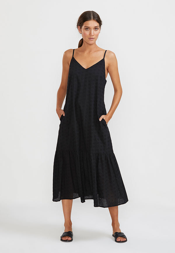 Staple the Label Devotion Ruffle Midi Dress