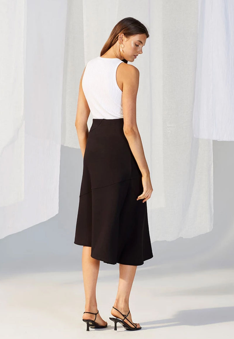 Staple the Label Veronica Ponte Midi Skirt