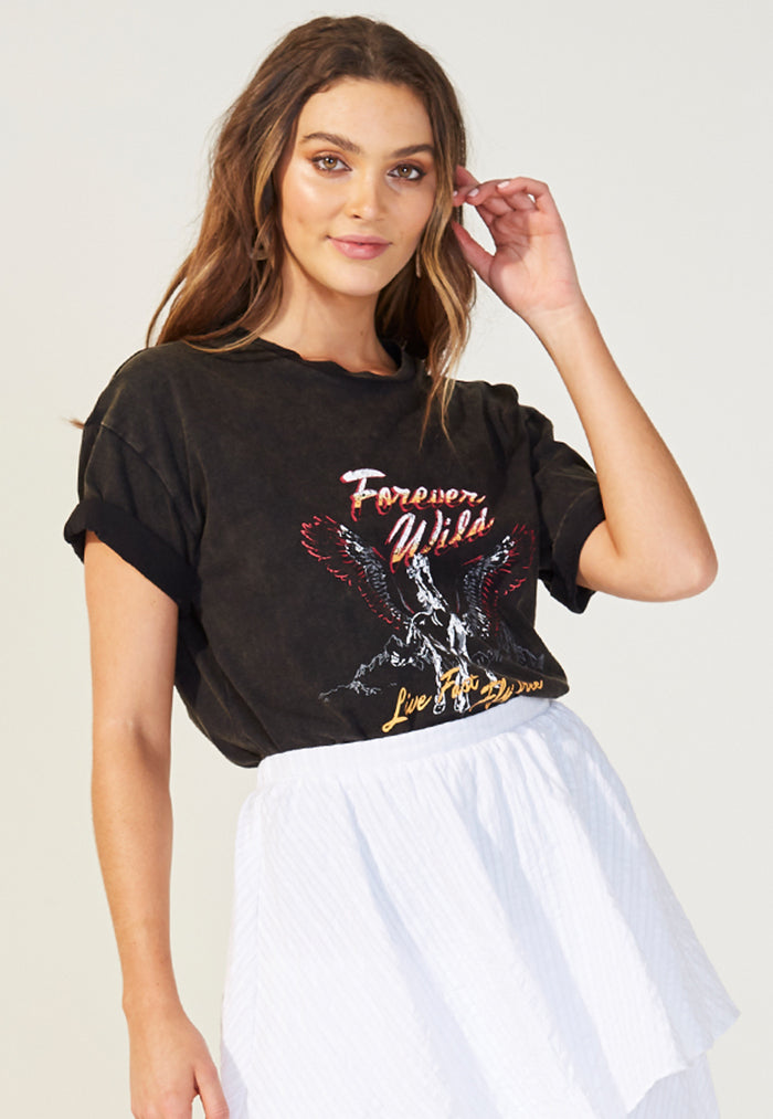 MINKPINK Forever Wild Band Tee