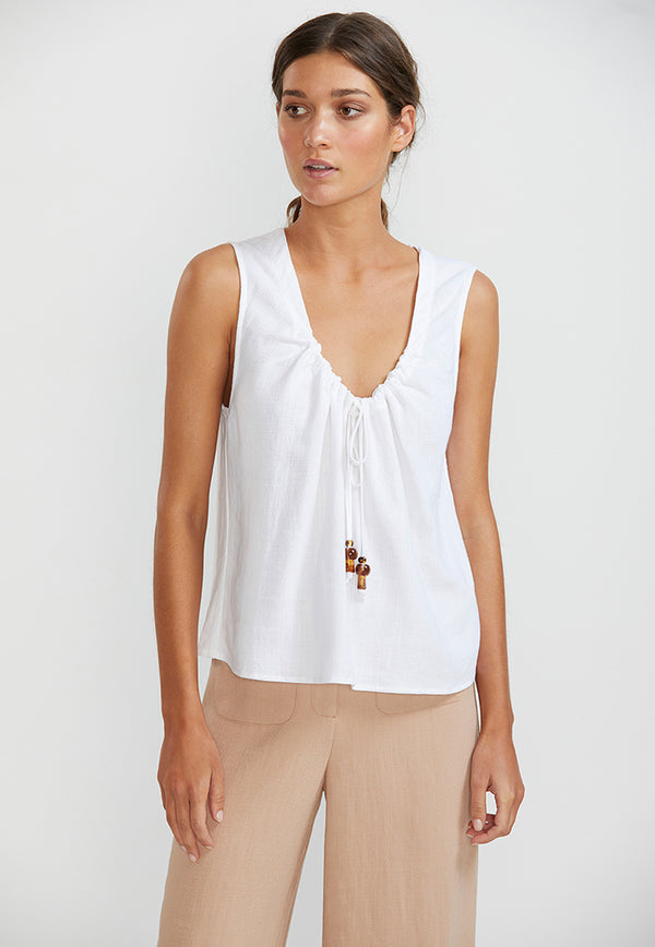 Staple the Label Amber Drawstring Blouse