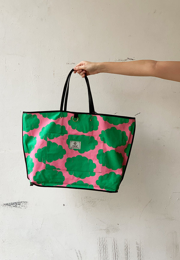 reversible large bag floral print