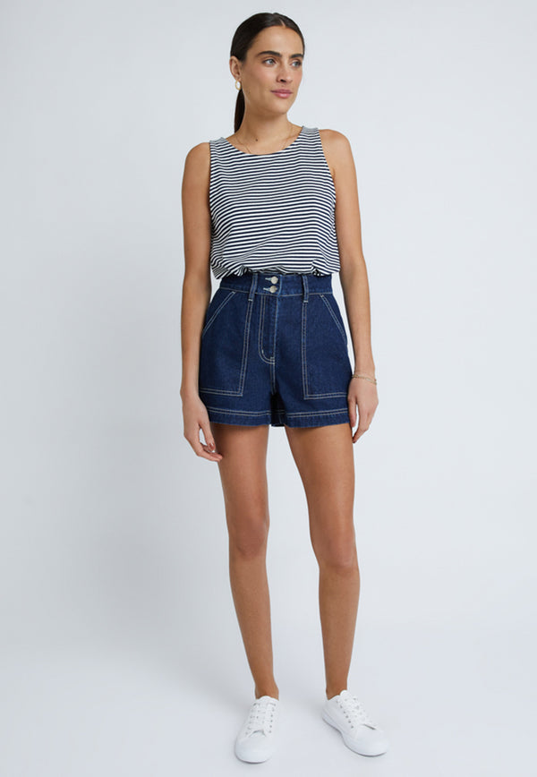 Staple the Label Bridgette Denim Shorts