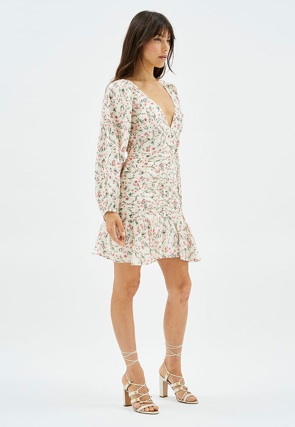 MINKPINK Penney Ruched Mini Dress