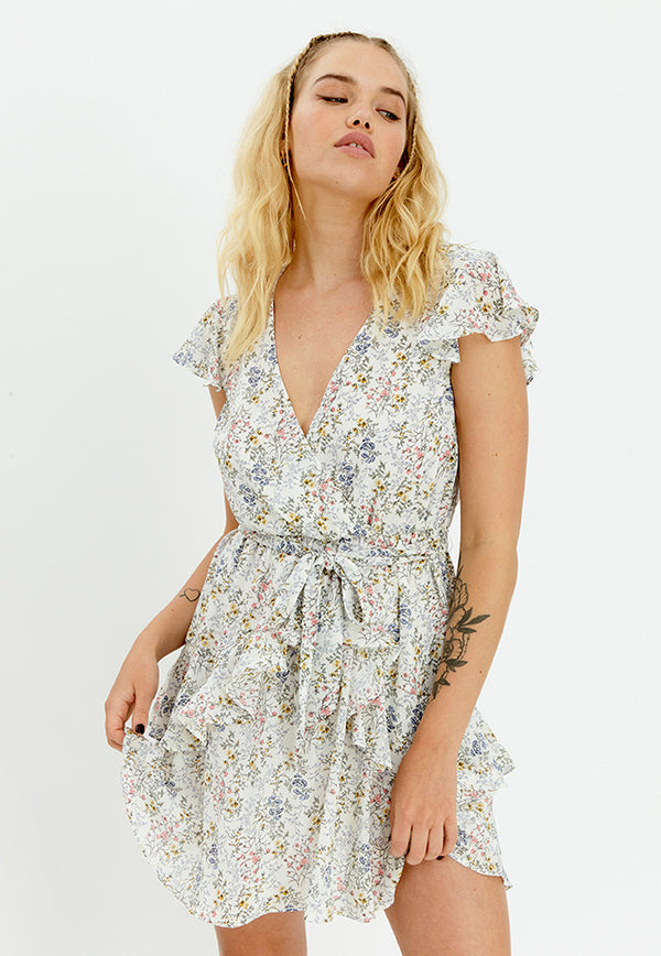 MINKPINK Tegan Ruffle Mini Dress
