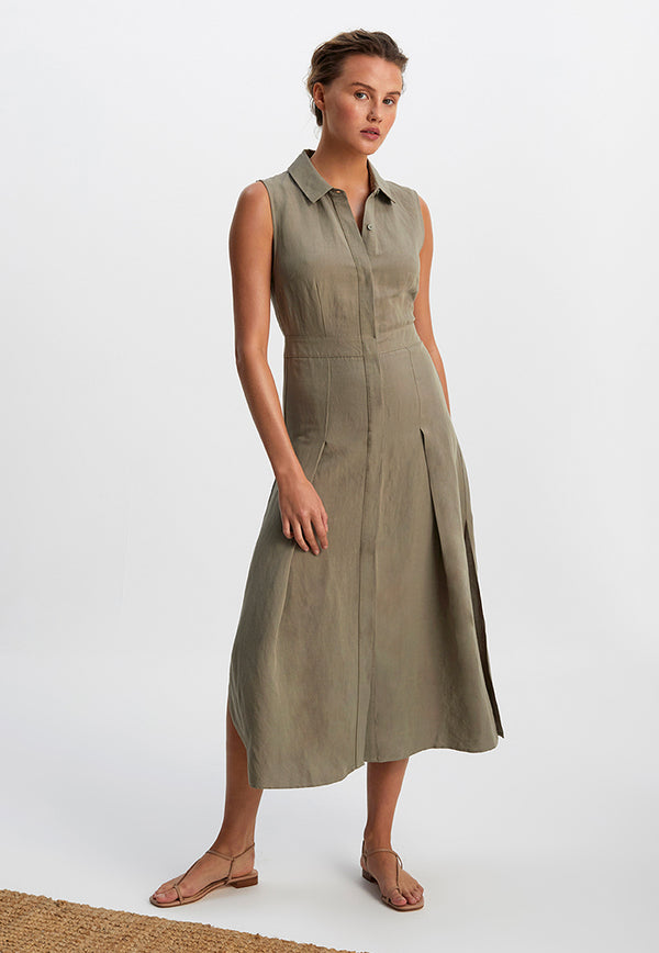 Staple the Label Acacia Midi Shirt Dress