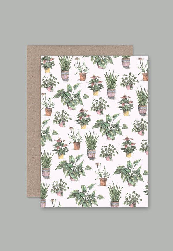 AHD Greeting Card - House Plants