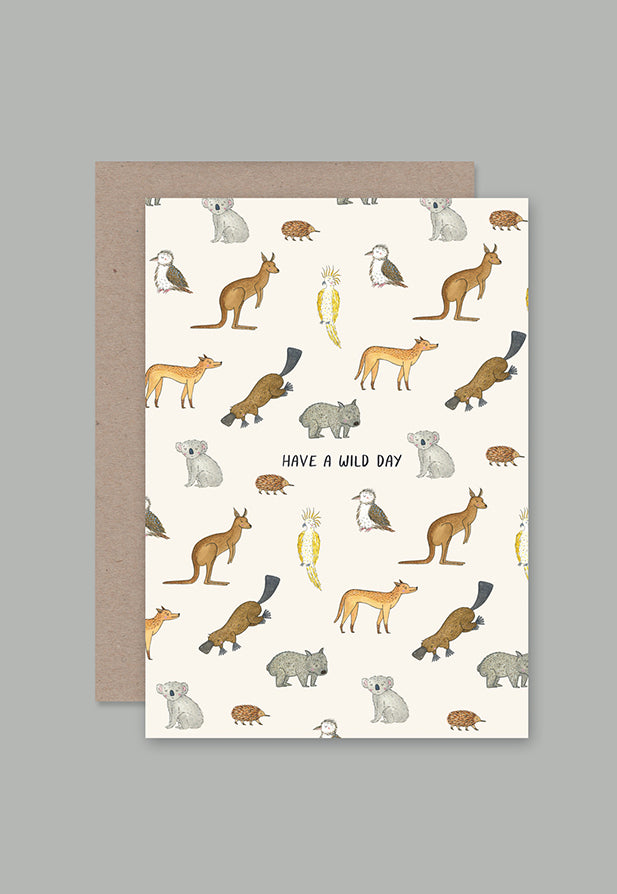 AHD Greeting Card - Have A Wild Day