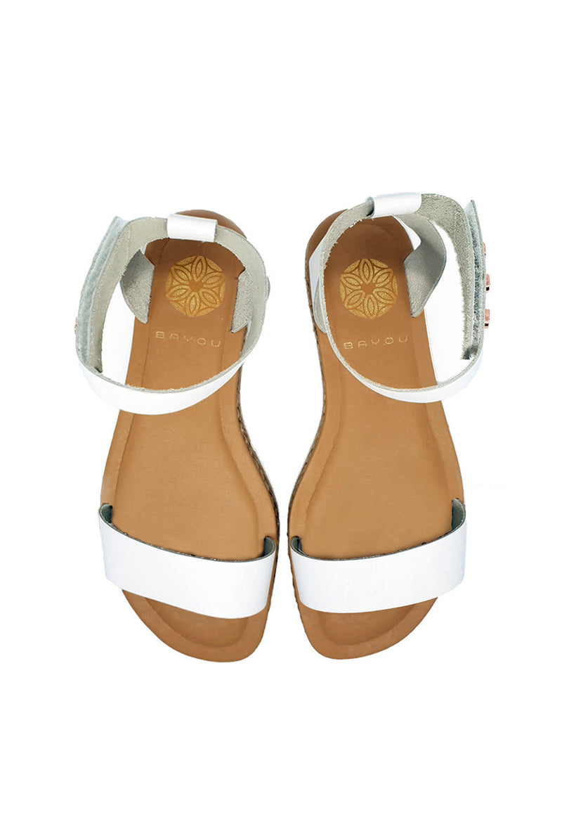 Bayou Bella White Sandals