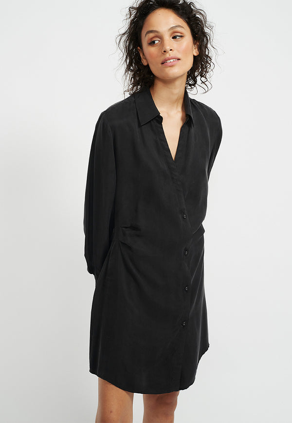 Staple the Label Harper Mini Shirtdress - Black