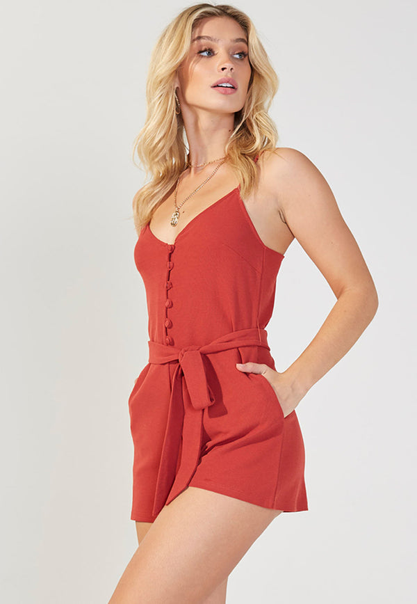MINKPINK Bobbi Cut Sew Playsuit