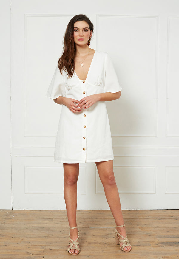 Staple the Label Carrie Linen Mini Dress