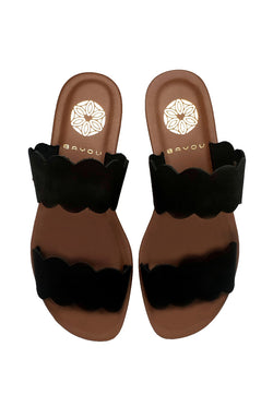 Bayou Celia Black Sandals
