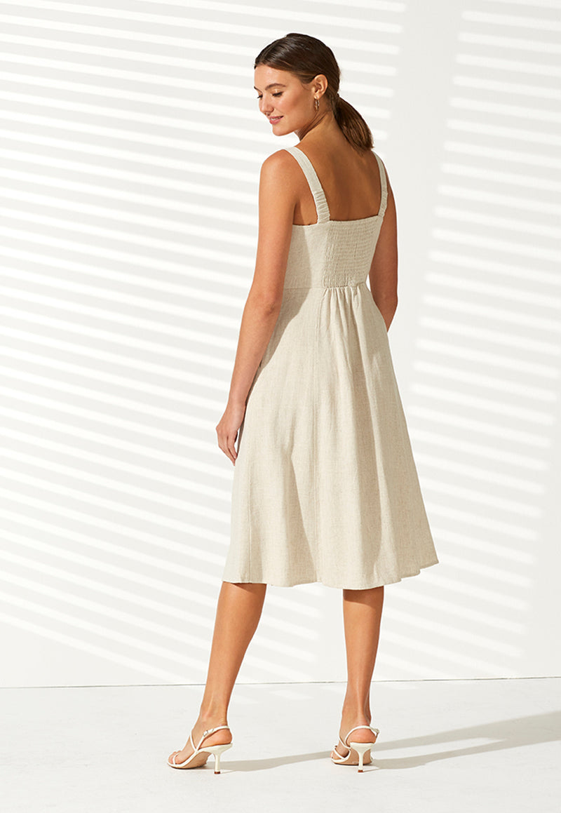 ruched back, A line skirt