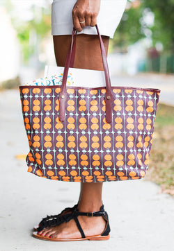 Nala Reversible Baise en Ville Bag - Pinafleur Orange