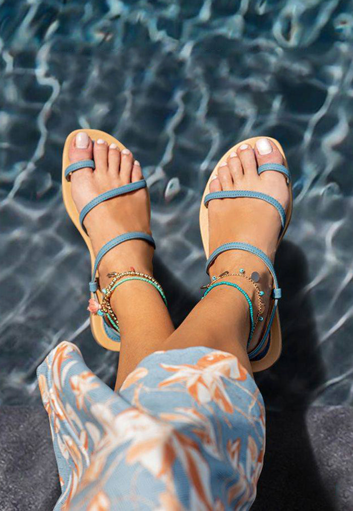 Bayou Eva Blue Sandals