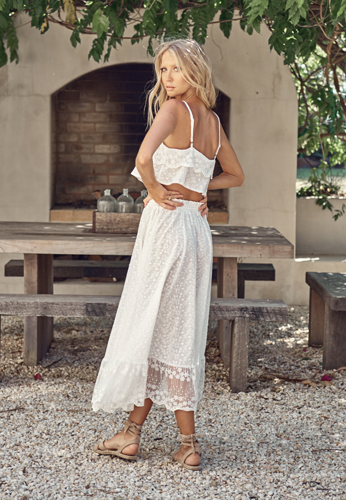 Evangeline Lace Cami and Skirt Set