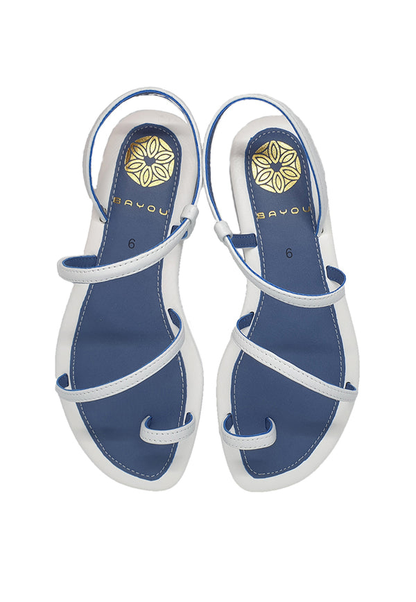 Bayou Eva White Sandals