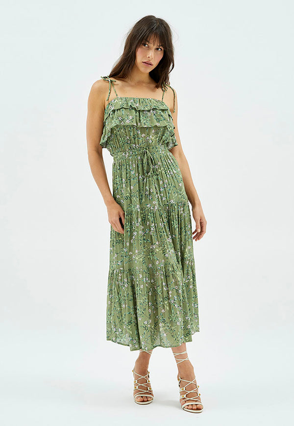 MINKPINK Dylan Tiered Maxi Skirt