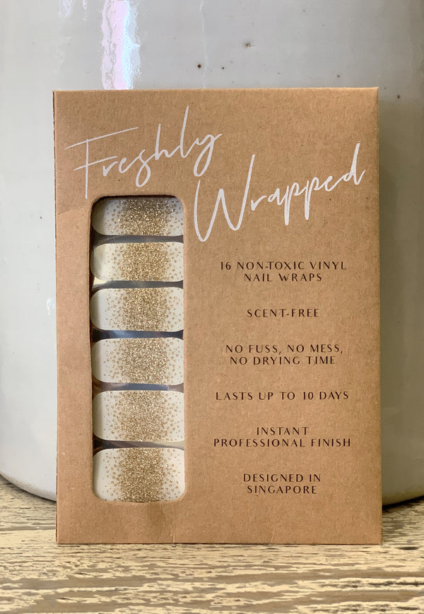 Freshly Wrapped Nail Wrap - Gold Dust