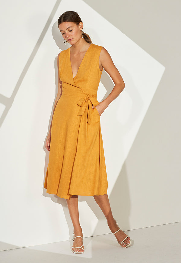 Staple the Label Golden Hour Wrap Dress