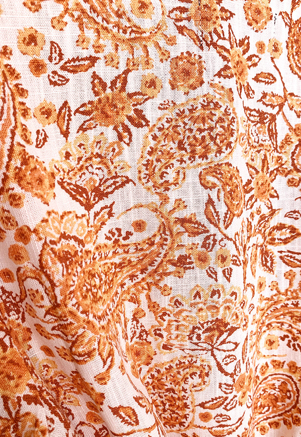 MINKPINK Golden Paisley Wrap Top