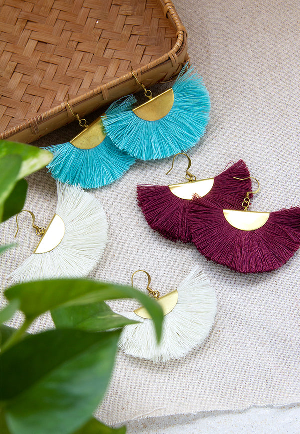 Just Gaya's Halfmoon Fringe Earrings