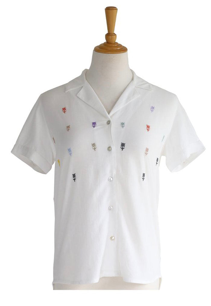 colourful embroidered shirt