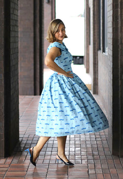 Nala Brussels Dress - Empress Blue